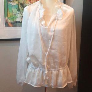 Laundry white blouse
